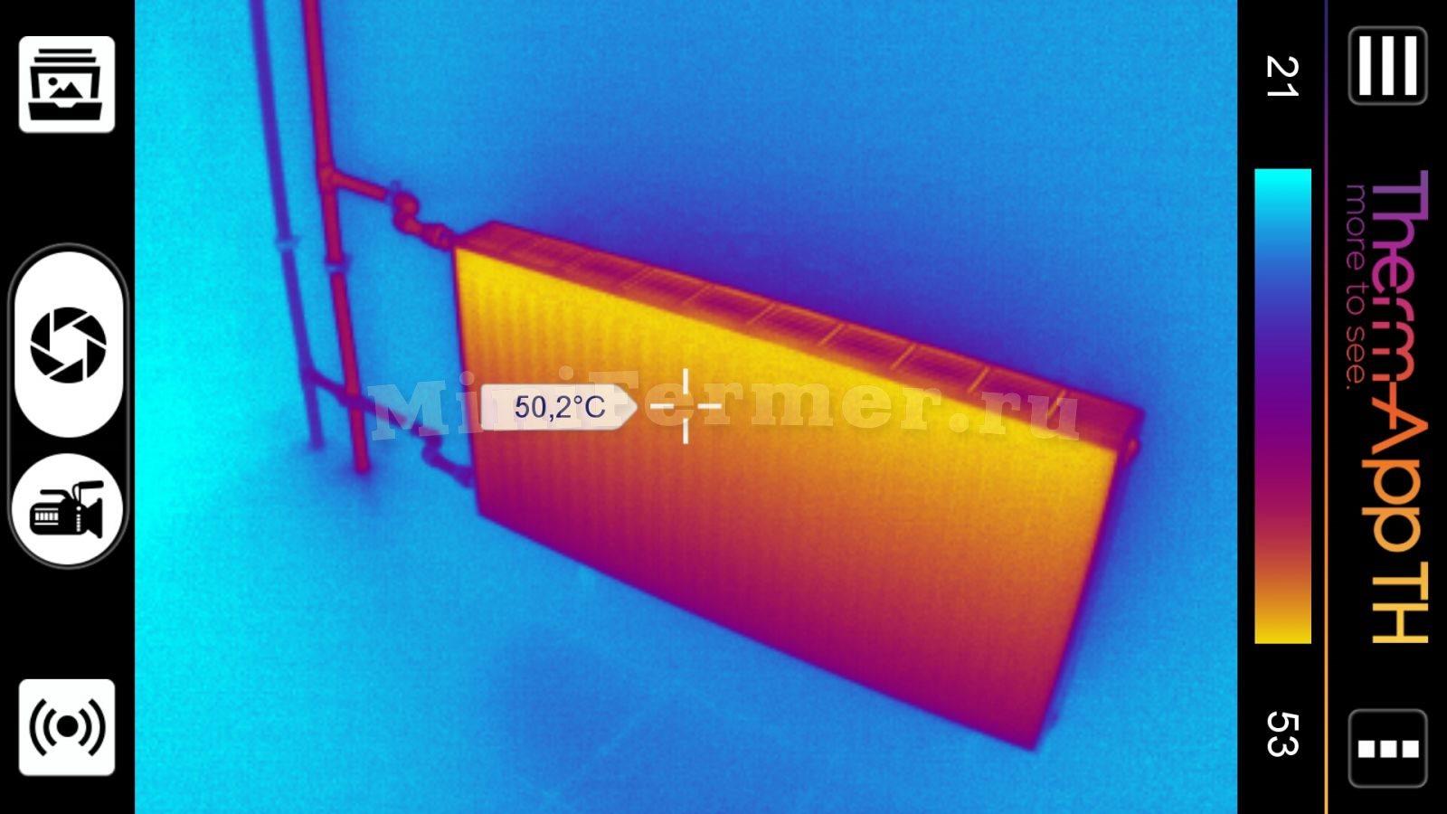 тепловизор Therm-App - проверка и тесты систем отопления