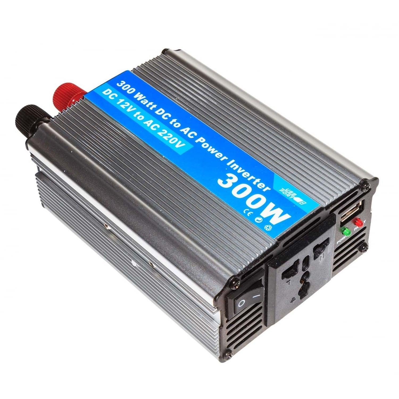 Инвертор преобразователь (300Ватт) DC 12Вольт в AC 220Вольт и 5Вольт USB