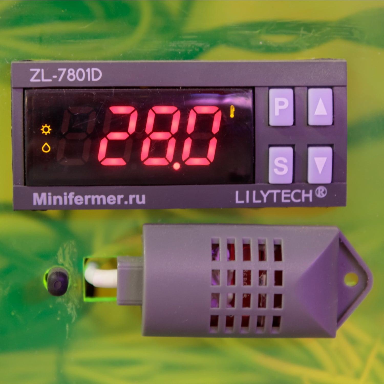 Контроллер  LILYTECH ZL-7801D (темп + влажность + 2 таймера+сигнализация)