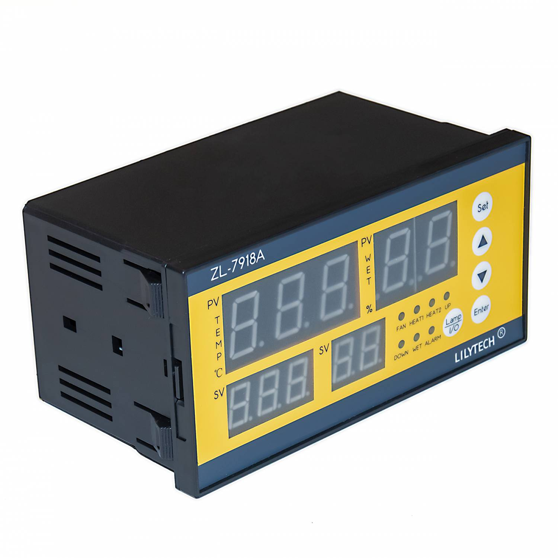 Контроллер LILYTECH ZL-7918А (темп + влажность + переворот+проветривание)