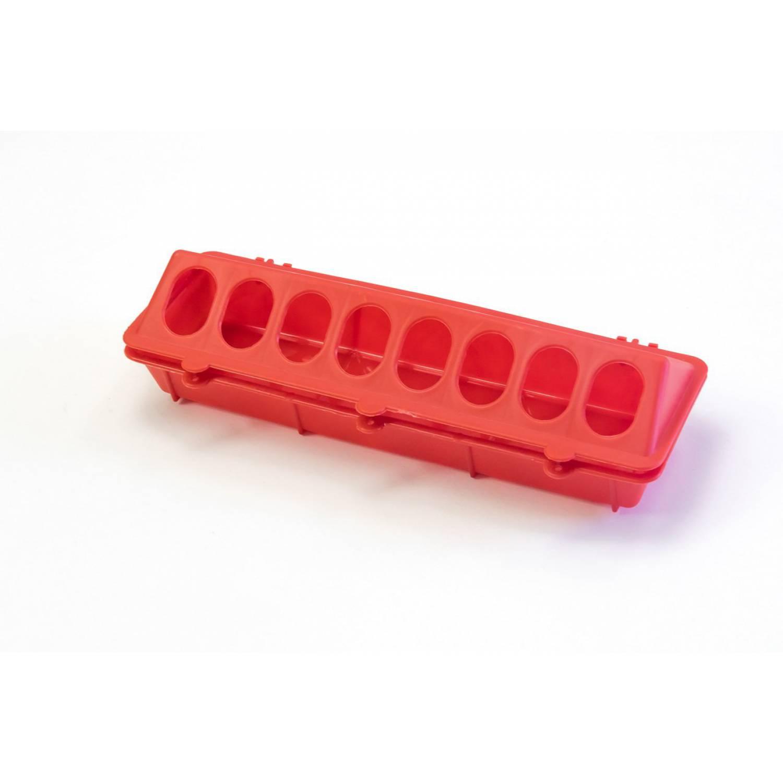 Кормушка лотковая пластиковая с отверстиями 30 см