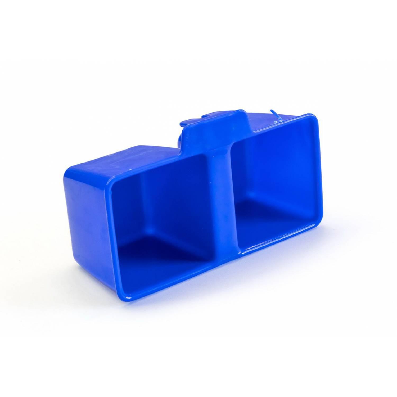 Кормушка двойная  универсальная с креплением на сетку (квадратная)