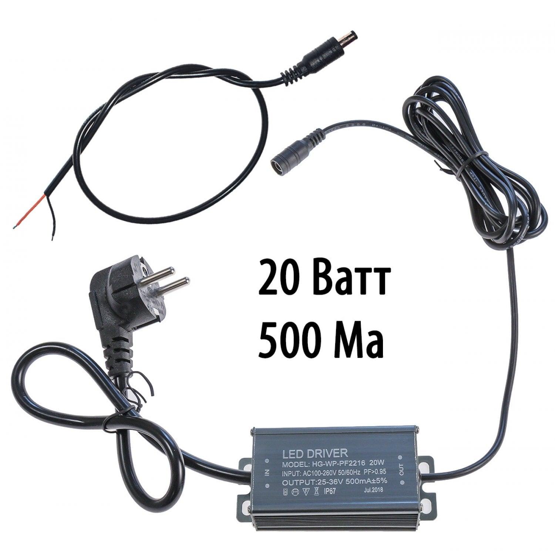 Драйвер для светодиодов 20W 500mA c вилкой