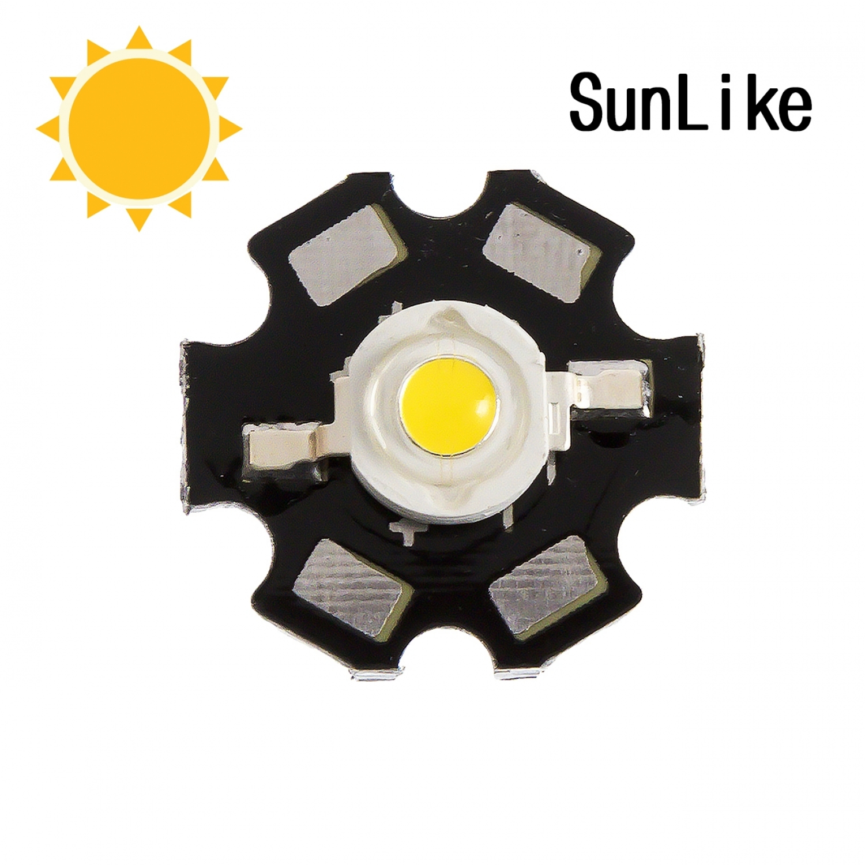 """Фито светодиод 3 Вт SunLike 4000K на PCB """"звезда"""""""
