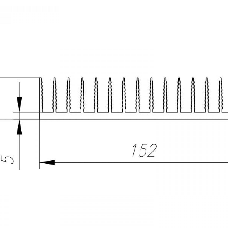 Профиль алюминиевый 152мм*30мм*4,03 кг