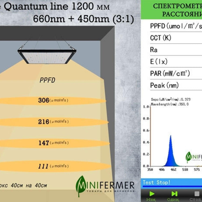 2.4.e Quantum line 1200 мм Биколор Epileds 660nm + 450nm (3:1)