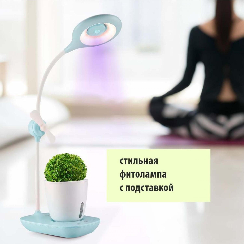 Декоративный фитосветильник с вентилятором