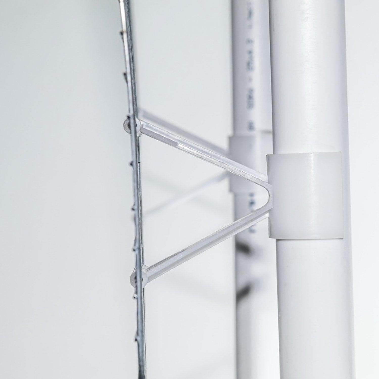 Крепление трубы 25мм на сетку