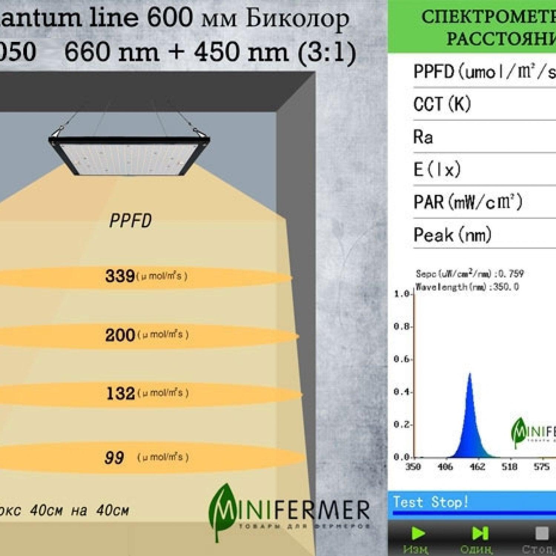 Биколор 2.2.c 660nm+450nm(3:1) Quantum line 600 мм