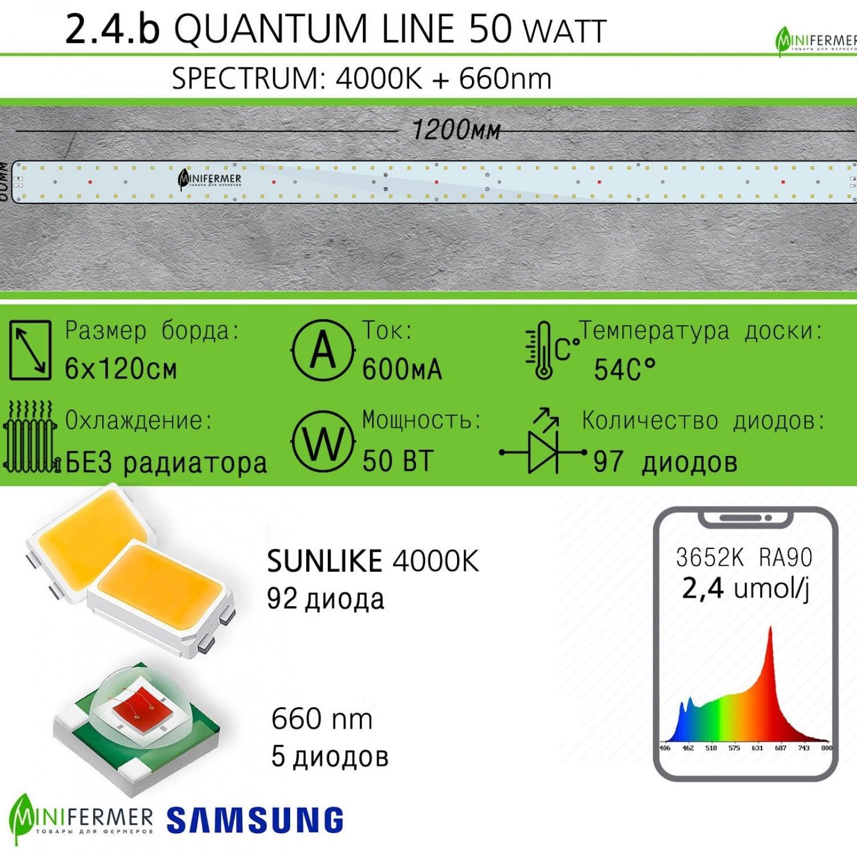 Sunlike 4000K+660nm 2.4.b Quantum line 1200 мм