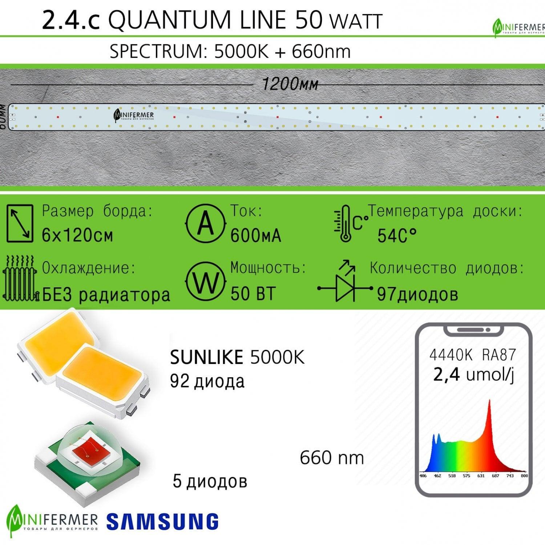 Sunlike 5000K+660nm 2.4.c Quantum line 1200 мм