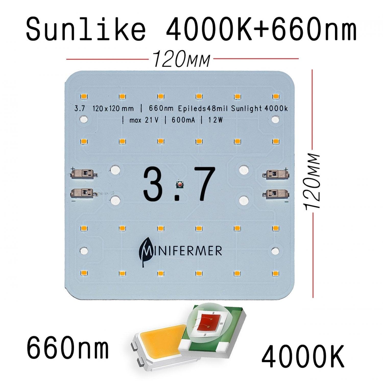 3.7 Quantum board Mini Sunlike 4000K + Epileds 660nm
