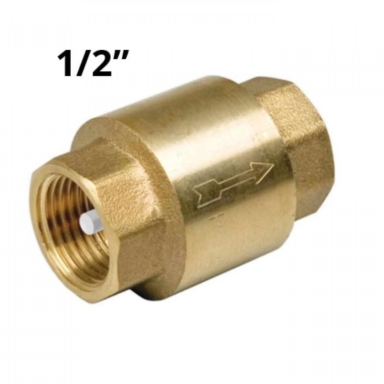 """Обратный клапан 1/2"""" латунь"""