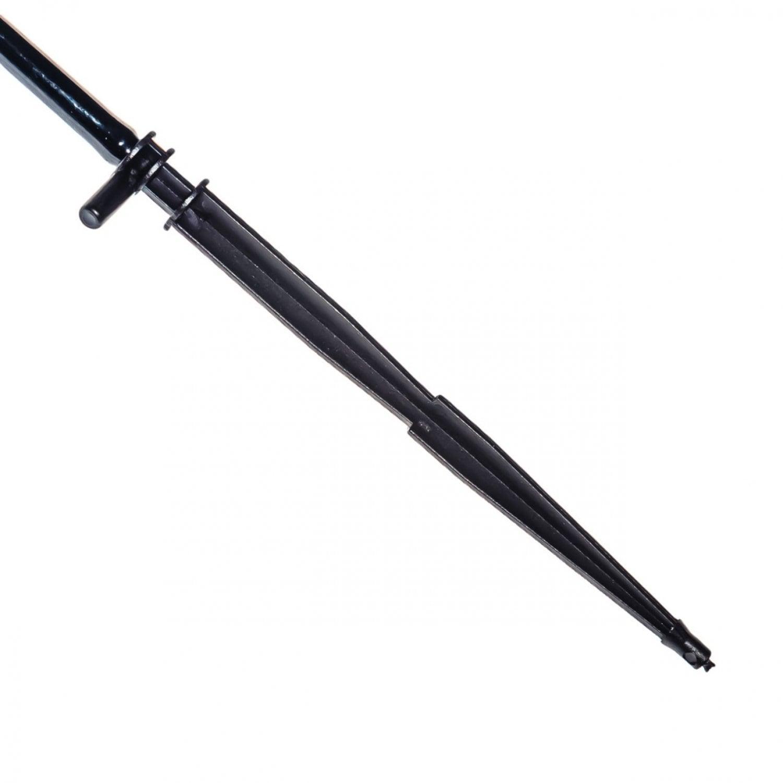 Капельница стрела прямая с поводком на четыре направления