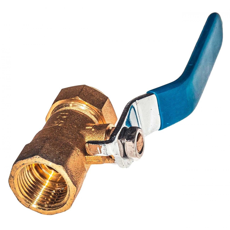 Кран шаровой 16-15мм для металлопластиковых и металлических труб прямой, латунь, ручка