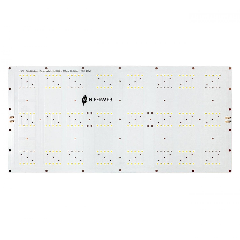 Ver.2/120.58 Quantum board 580 х 280 Samsung lm301b 4000K + Osram SSL 660nm+UV+660 nm 3030