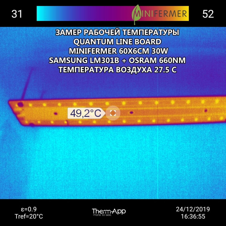 2.4 f Quantum line 1200 мм Samsung lm281b+pro 5000K + 660nm smd 5050