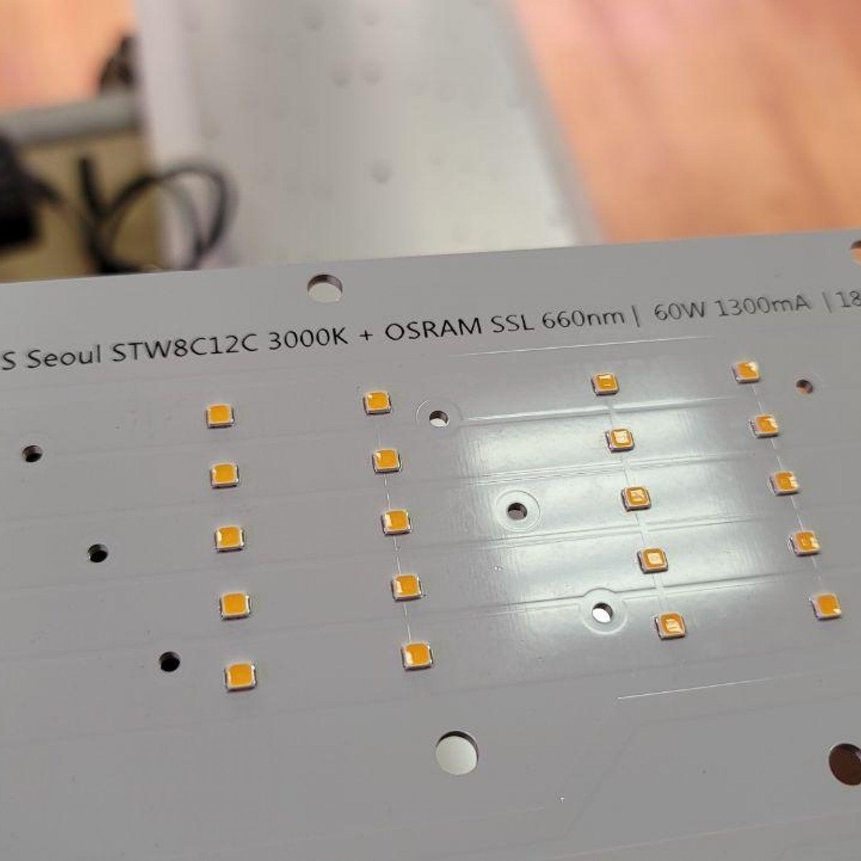 1.1s Quantum board 180 х 390 Seoul 3000K + Osram SSL 660nm