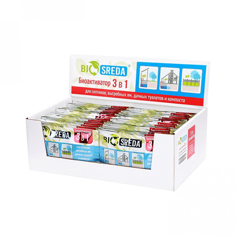 Биоактиватор 3 в 1 BIOSREDA 75 гр.
