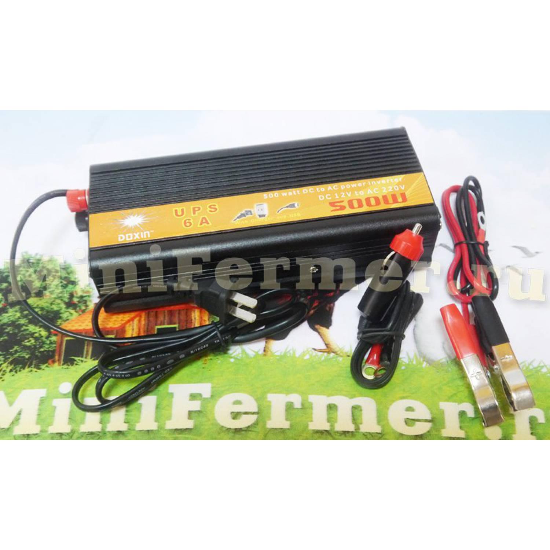 Инвертор Doxin 500 Watt с UPS