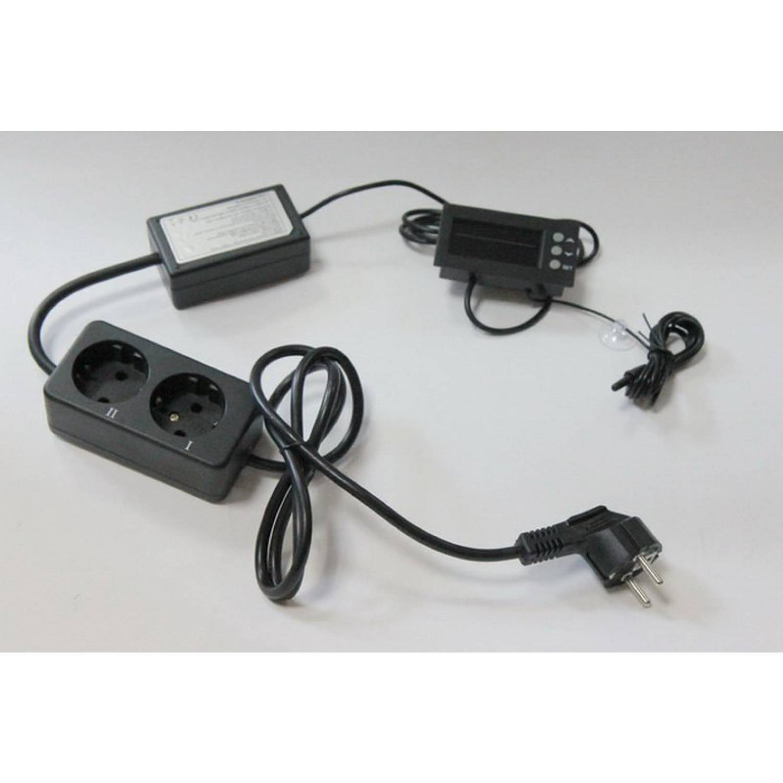 Терморегулятор ТС200 розеточный с двумя таймерами