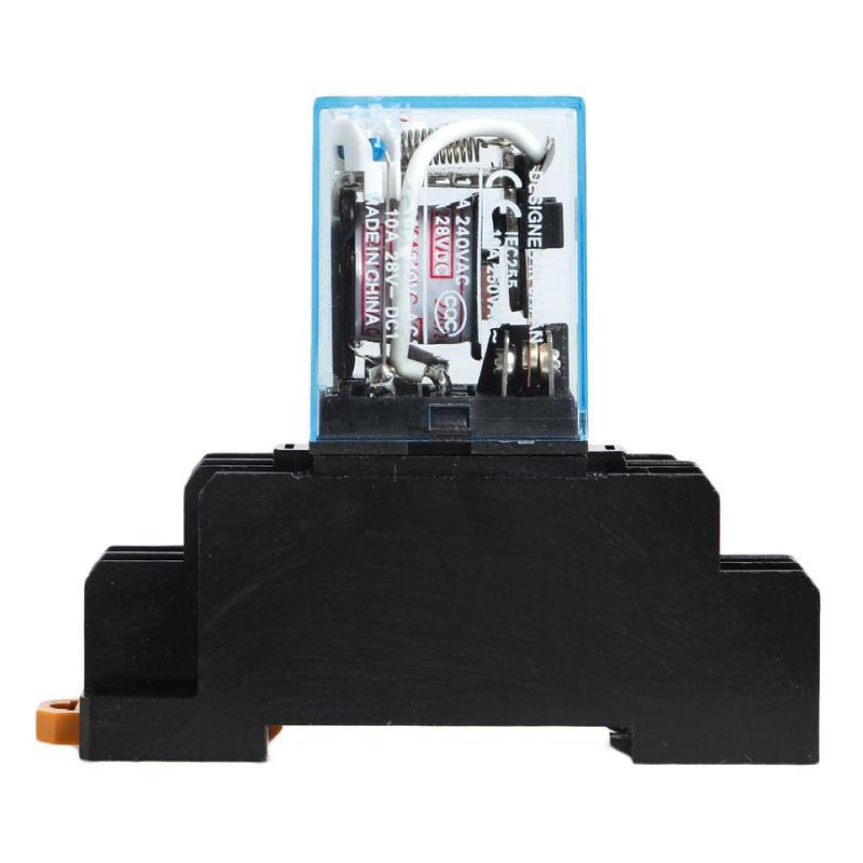 Электромагнитное реле 220в для коммутации любого тока до 10А. С креплением на дин рейку.