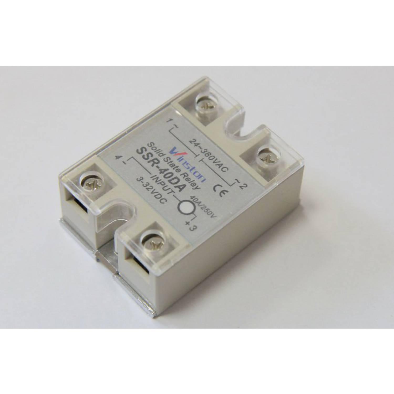 Твердотельное реле 40Ампер 3-32VDC для коммутации переменного тока 24-380VAC