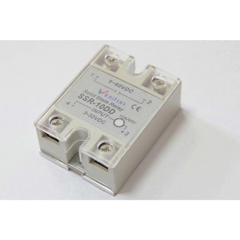 Твердотельное реле 10Ампер 3-32VDC для коммутации постоянного тока 5-60VDC