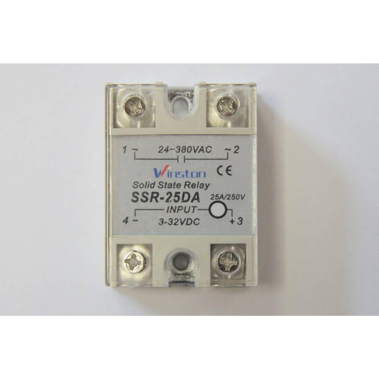 Твердотельное реле 25Ампер 3-32VDC для коммутации переменного тока 24-380VAC