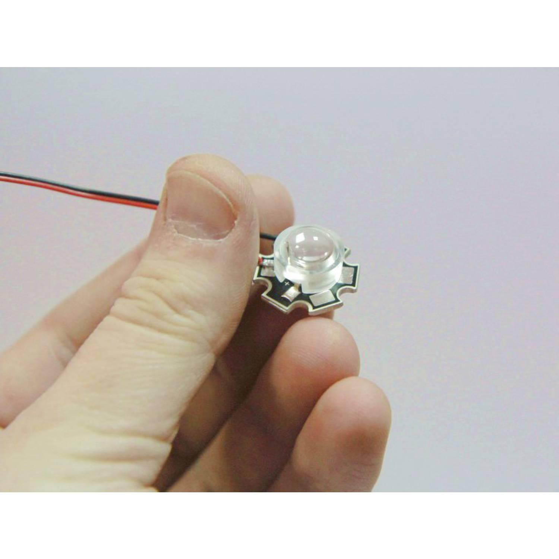 Линза для светодиодов 13мм 1-3W №3 15 градусов
