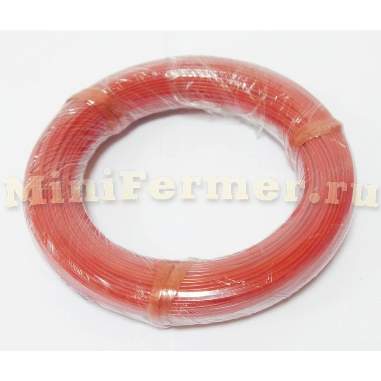 Нагревательный кабель 33 Ом 100 метров 3 мм силикон 12k