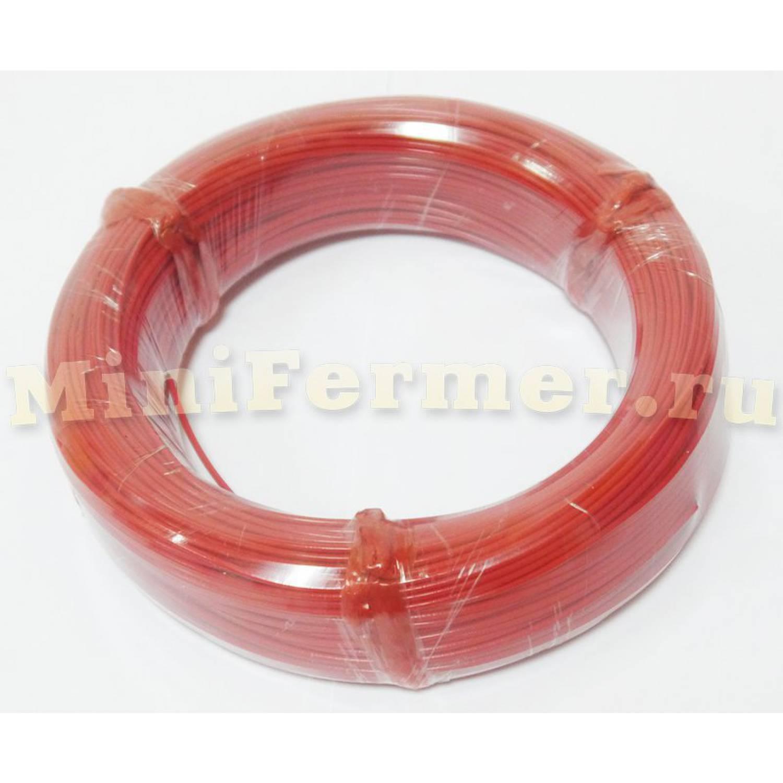 Нагревательный кабель 66 Ом 100 метров 2 мм силикон (6k)