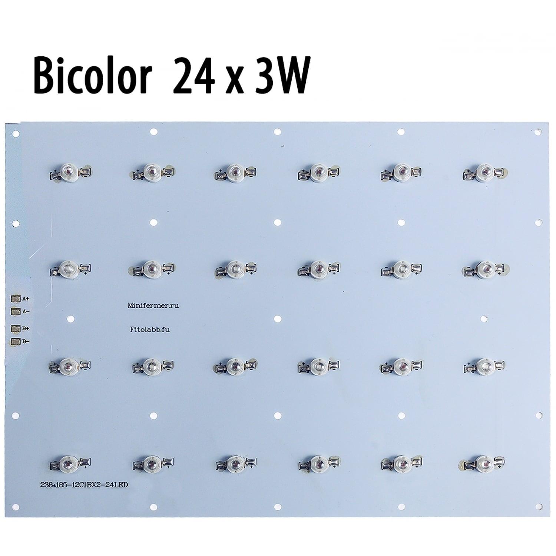 Модуль прямоугольный 24x3 Ватт Биколор