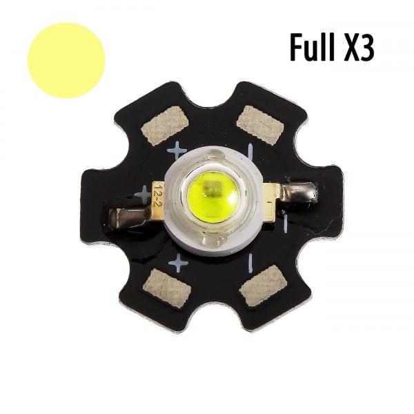 """Фито светодиод 5 Вт fullx3 на PCB """"звезда"""""""