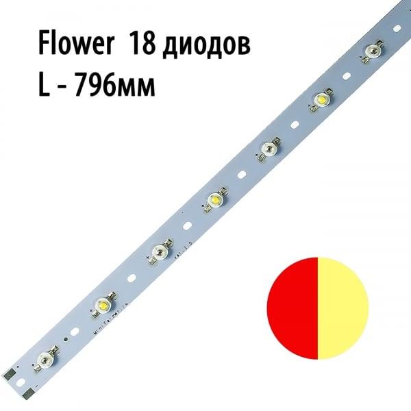 Модуль линейный 18x3 Ватт 796 мм Цветонос