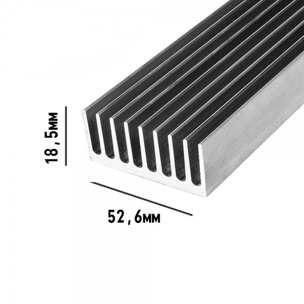 Профиль алюминиевый 52,5мм * 18,5мм * 1,4кг
