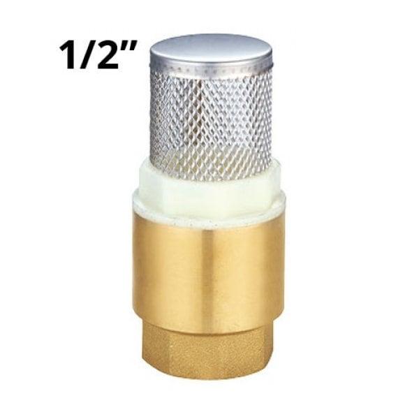 """Обратный клапан с сеткой 1/2"""" латунь"""