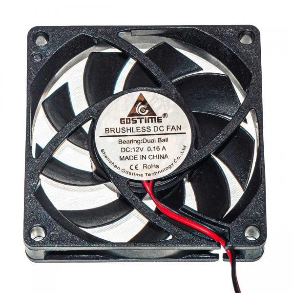Осевой вентилятор корпусной 70х70х10мм 12Вольт