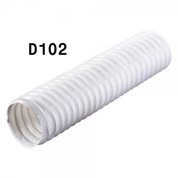 Канал круглый гофрированный 102 мм х 3 м ( ПВХ )