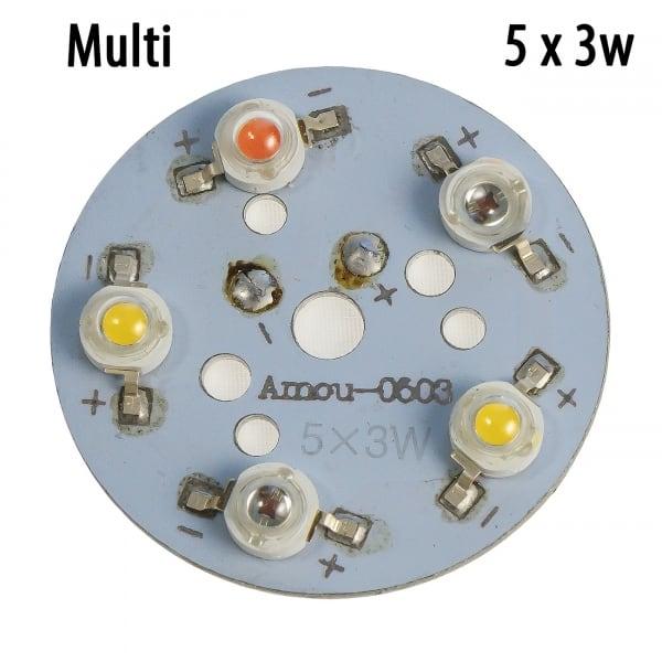 Модуль 5x3 Ватт Мультиспектр 660+2900К+ фулл спектр