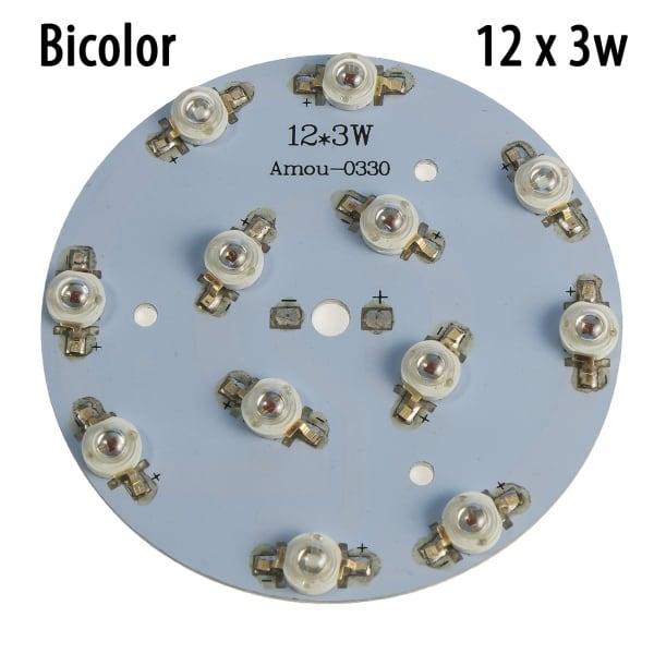 Модуль 12x3 Ватт Биколор 660+450nm