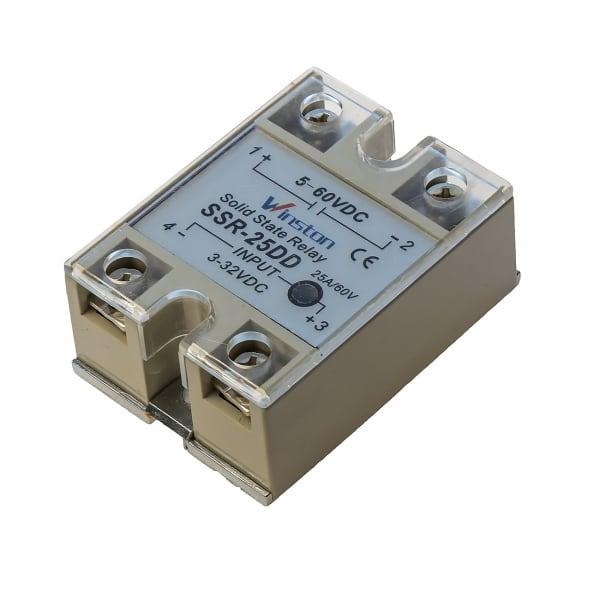 Твердотельное реле 25Ампер 3-32VDC для коммутации постоянного тока 5-60VDC