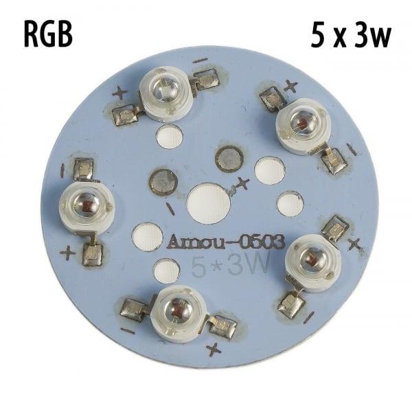 Модуль 5x3 Ватт RGB 660nm+450nm+520nm