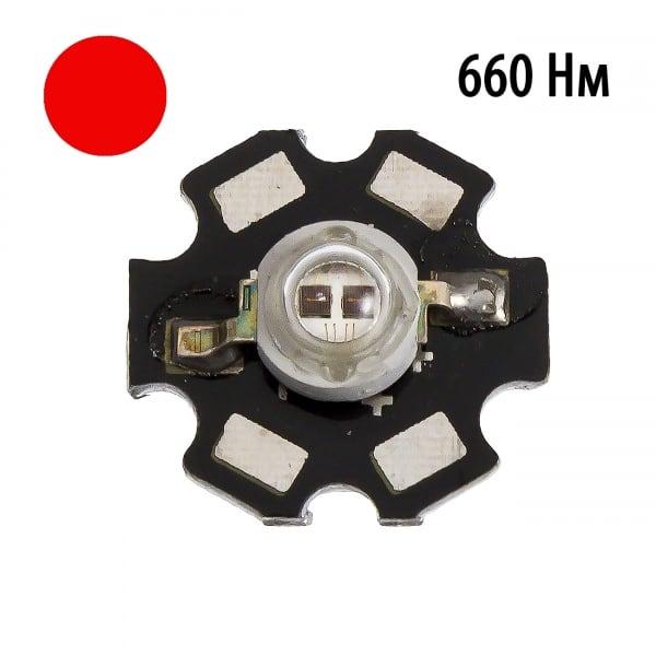 """Фито светодиод 5 Вт 660нм на PCB """"звезда"""""""