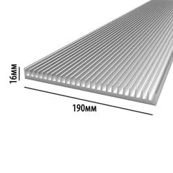 Профиль алюминиевый  190 мм * 16 мм *  4,52 кг