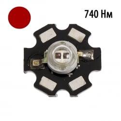 """Фито светодиод 5 Вт 730-740 нм. (дальний красный) на PCB \""""звезда\"""""""