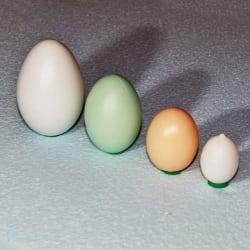 Пластиковое яйцо утиное