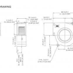 Вентилятор радиальный (центробежный) на подшипнике 58х56.3х28 мм 12Вольт.