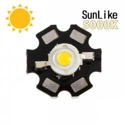 """Фито светодиод 3 Вт SunLike 5000K на PCB """"звезда"""""""