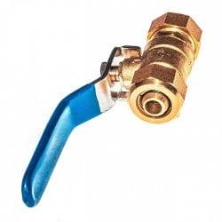 Кран шаровой 12-16мм для металлопластиковых труб прямой, латунь, ручка